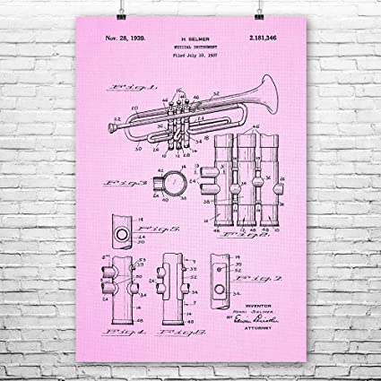 Trumpet Poster Art Print, Marching Band, Band Director, Jazz Band, Louis  Armstrong, School Band, Symphony Orchestra Pink Cloth (8