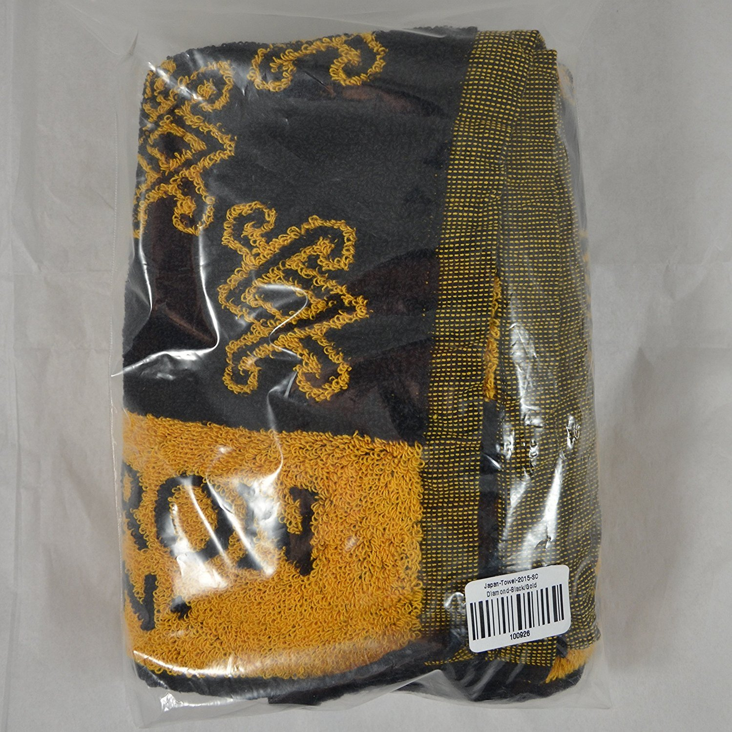 Scotty Cameron Golf Towel Limited SC Diamond Patterned Black & Gold 37'' x 20'' by Scotty Cameron