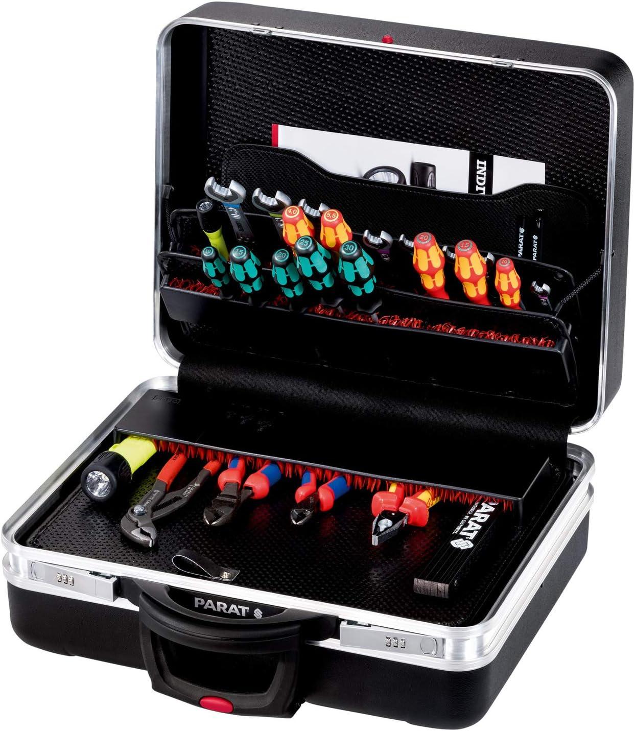 Parat 589550171 caja de herramientas Negro Aluminio, De plástico - Cajas de herramientas (Negro, Aluminio, De plástico, Moisture-resistant, Resistente a golpes, 490 mm, 250 mm, 460 mm)