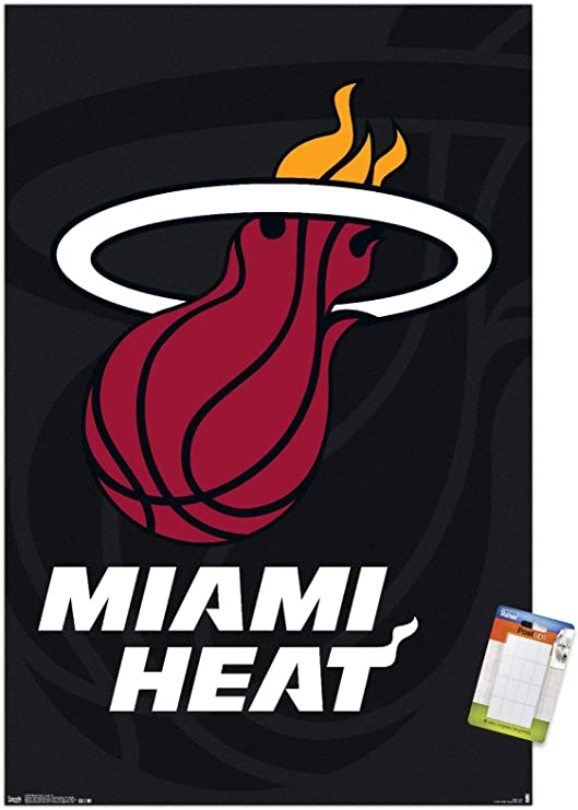 Amazon Com Trends International Nba Miami Heat Logo 14 Wall Poster 22 375 X 34 Poster Mount Bundle Home Kitchen