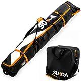 Ski Bag and Ski Boot Bag Combo for Air Travel Unpadded - Ski Luggage Bags for Snow Travel Gear - Ski Case for Cross…