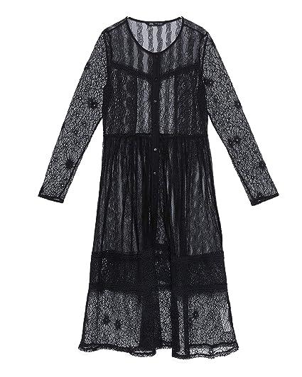 5518f2b1431 Zara Women's Contrast lace Dress 8741/023 Black: Amazon.co.uk: Clothing