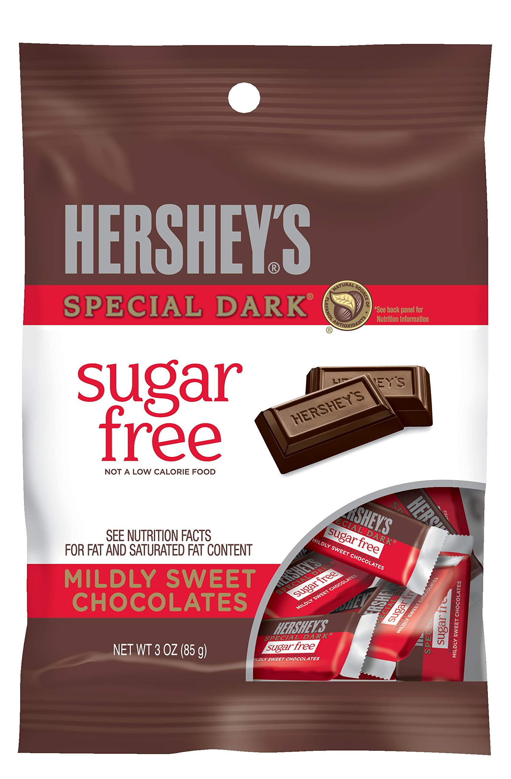 HERSHEY'S Dark Chocolate Candy Bars,Sugar Free, 3 Ounce (Pack of 12) by HERSHEY'S