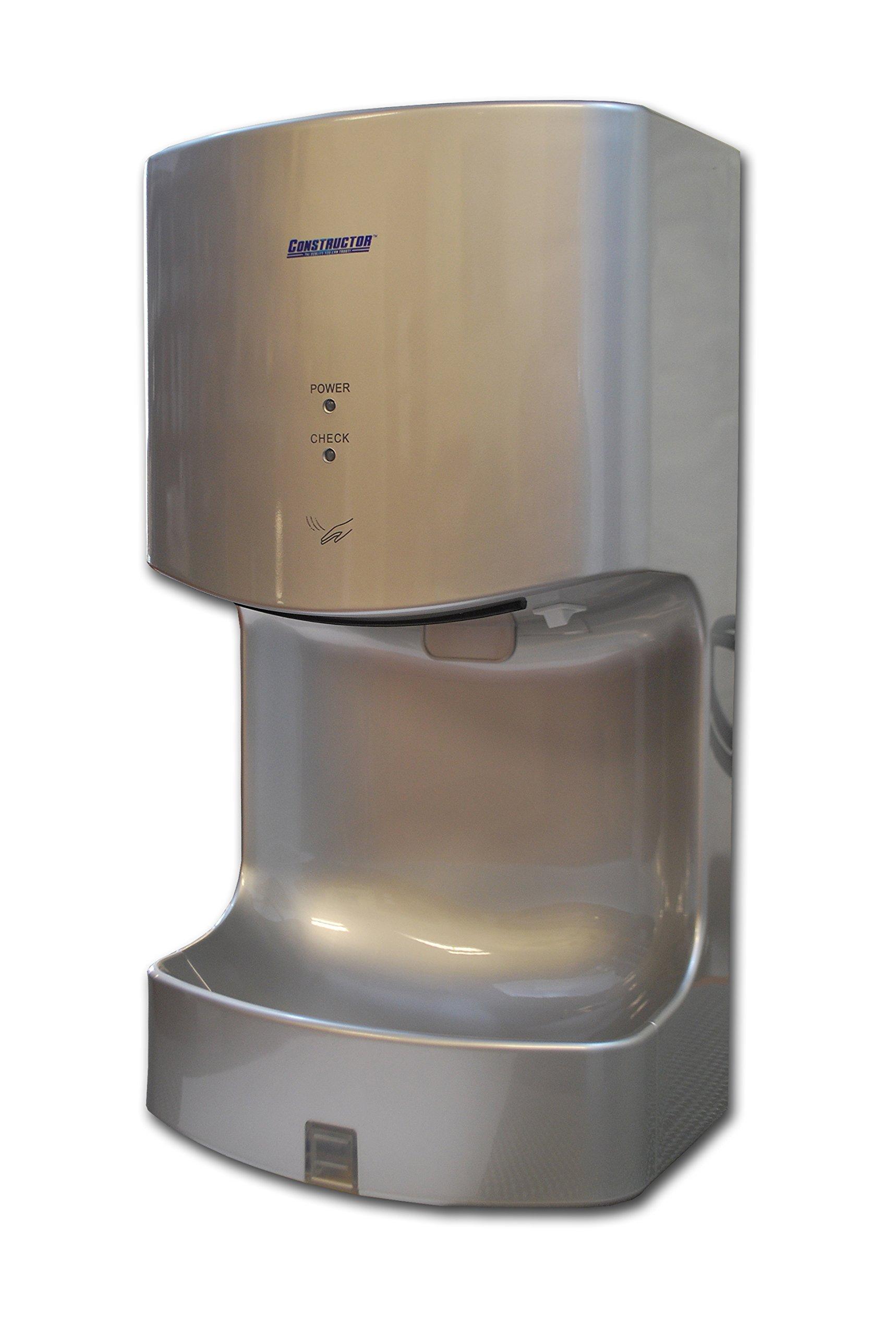 1300 Watts High Speed Automatic Hand Dryer Plastic Durable Infared (Dark Grey)