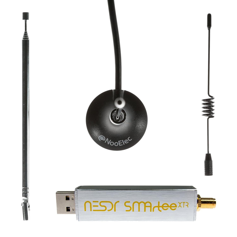 recinto de aluminio Radio Definida por Software RTL2832U y E4000 Bias Tee Premium RTL-SDR con rango de afinaci/ón extendido entrada SMA y 3 antenas 0,5PPM TCXO NooElec NESDR SMArTee XTR Bundle