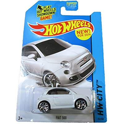 Hot Wheels 2014 HW City Fiat 500 25/250, White: Toys & Games