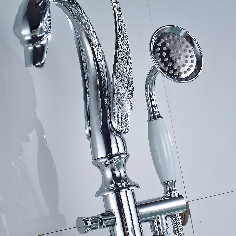 Votamuta Floor Mounted Bathroom Tub Filler Shower Faucet Bird Shap ...