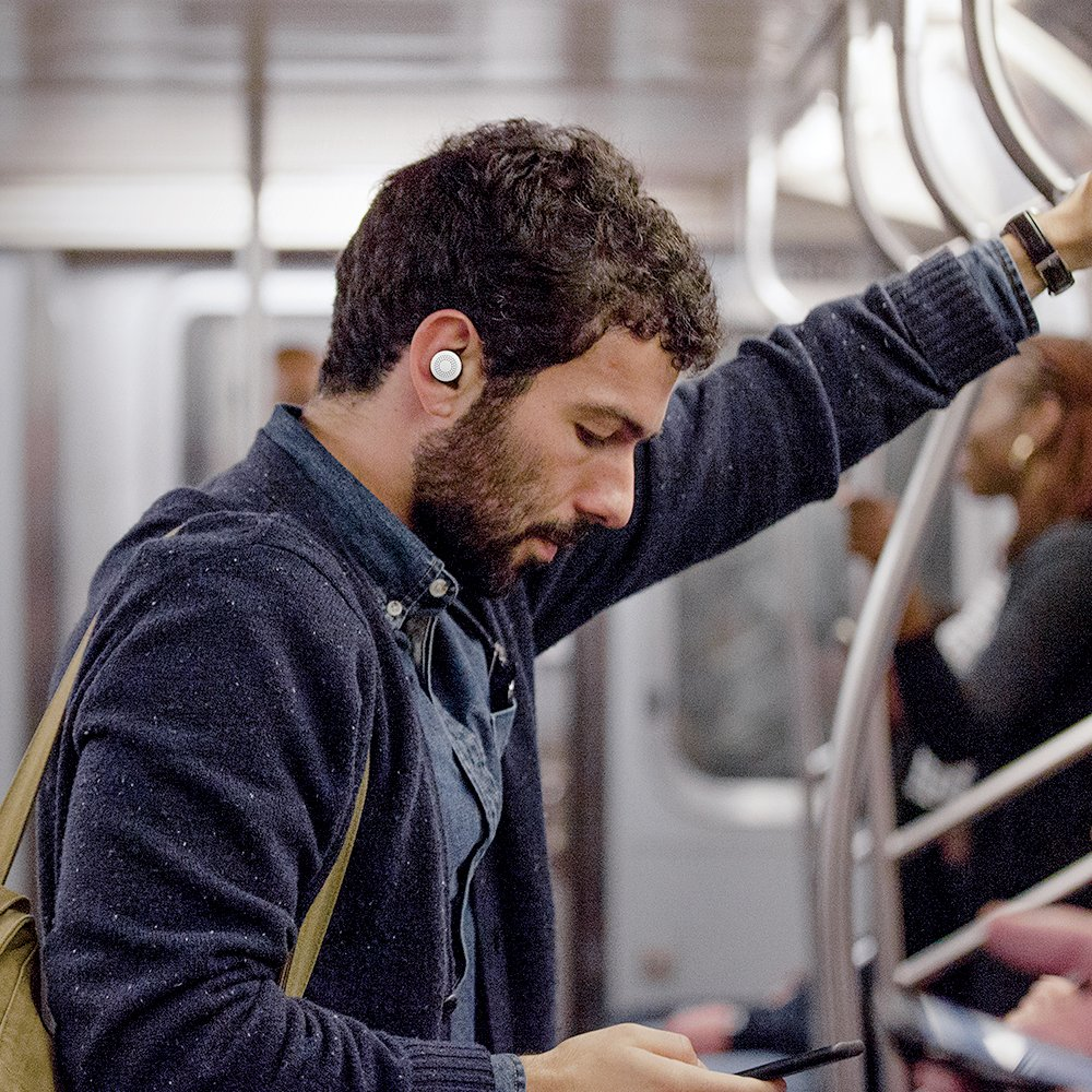 Here One Wireless Smart Earbuds: 3-in-1 Noise Cancelling & In Ear Bluetooth Headphones - iPhone Compatible (Black) by Doppler Labs (Image #6)