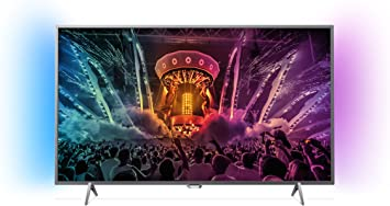 Philips - Tv led 43 43pus6401/12 uhd 4k, ambilight, wi-fi y smart tv android: Amazon.es: Electrónica