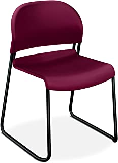 product image for HON Guest Stacker High-Density Stacking Chair, Mulberry
