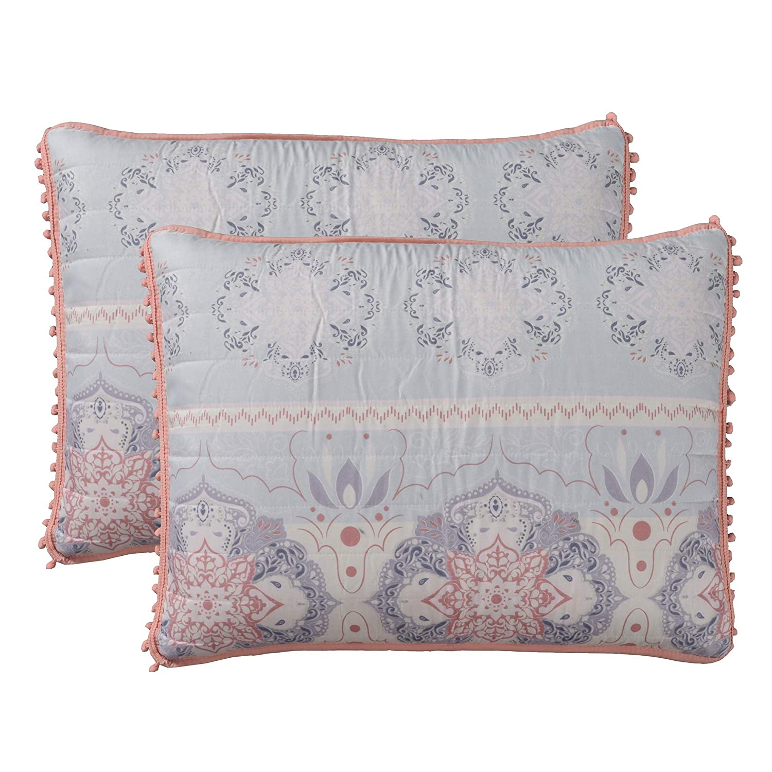 Amrapur Overseas Cairo 5-Piece Reversible Quilted Coverlet Set Twin Light Blue