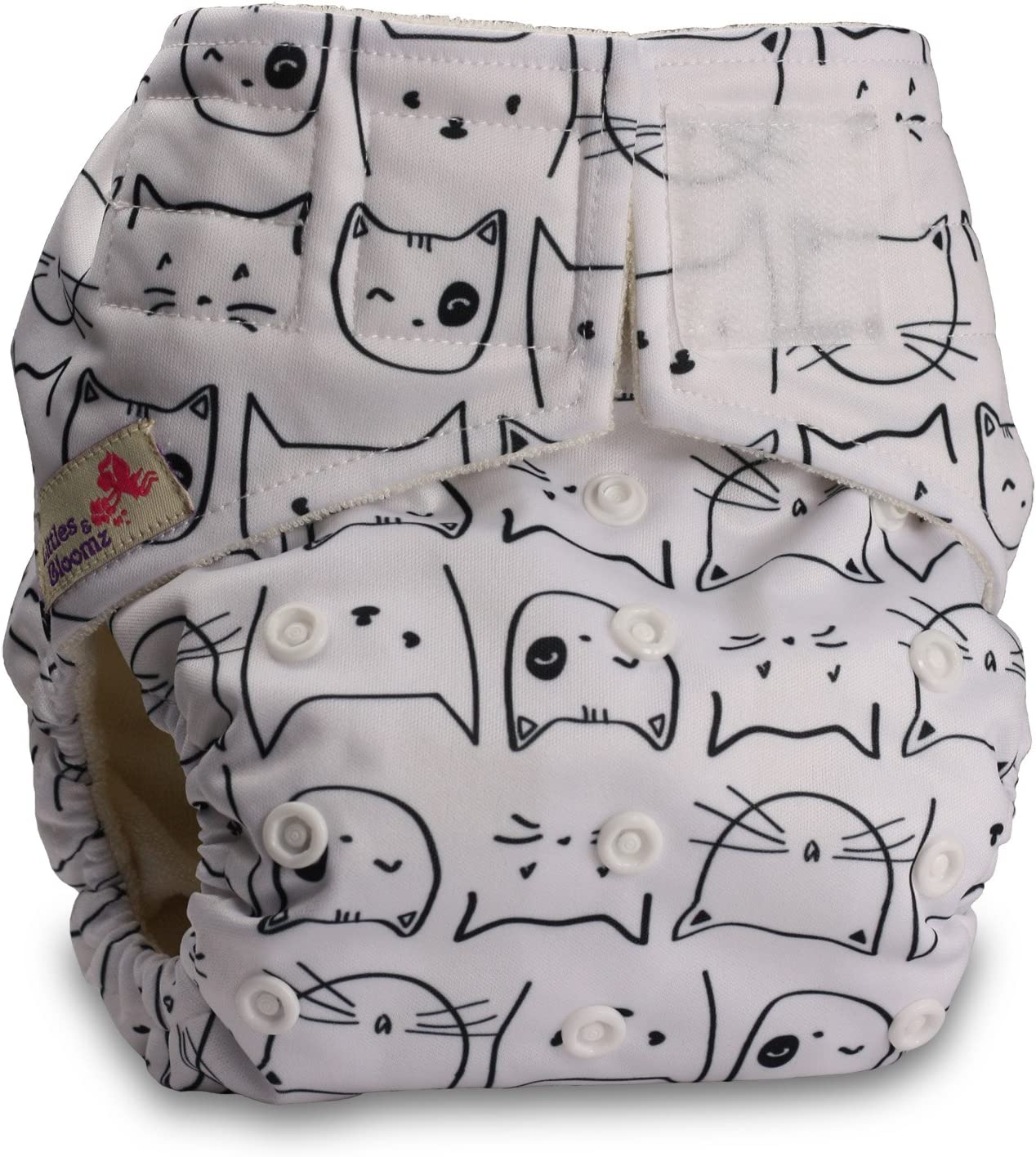 Baby Cloth Washable Reusable Nappy Pocket Diaper Bamboo Pattern 39 with 1 Bamboo Charcoal Insert Littles /& Bloomz Fastener: Hook-Loop