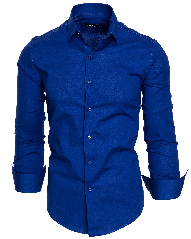 Amaci& Sons Herren Slim Fit Hemd Bügelleicht Business Freizeit Shirt 50003