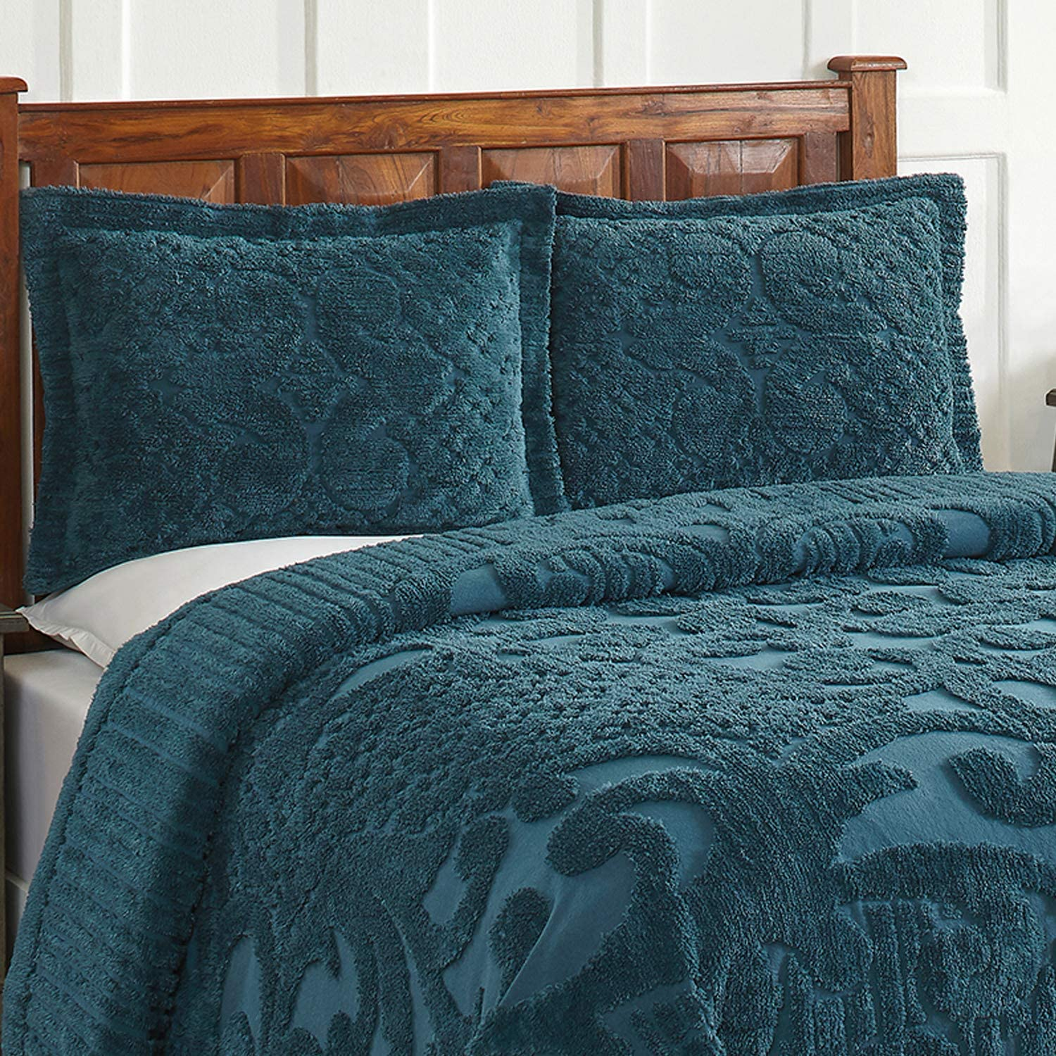 Better Trends Ashton Collection in Medallion Design 100/% Cotton Tufted Chenille Sage Full//Double Bedspread