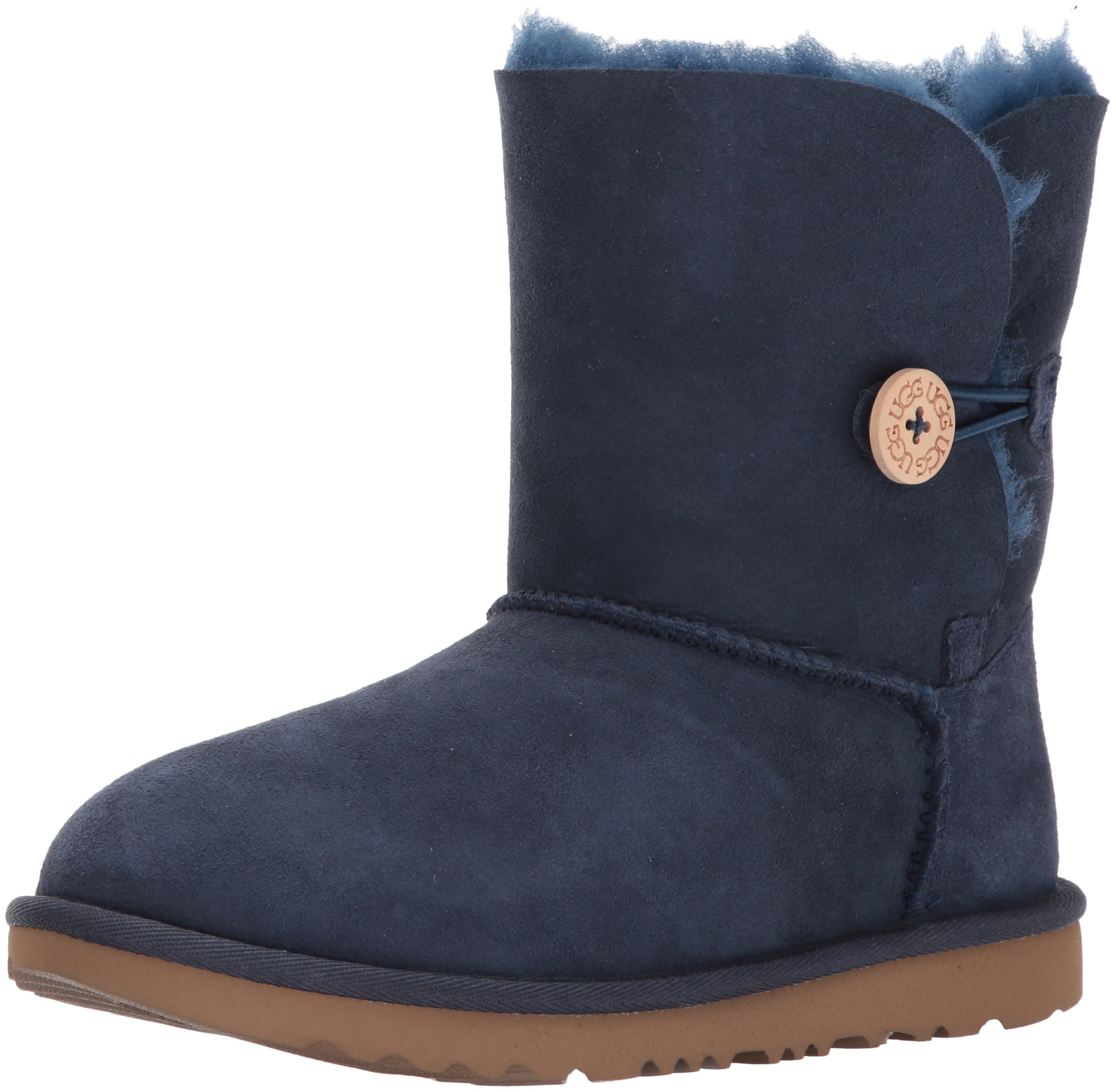 UGG Girls K Bailey Button II Pull-On Boot, Navy, 5 M US Big Kid