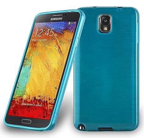 Cadorabo Funda para Samsung Galaxy Note 3 en Turquesa - Cubierta Proteccíon de Silicona TPU Delgada e Flexible con Antichoque - Gel Case Cover Carcasa ...