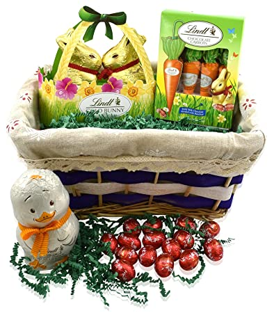 Amazon lindt easter gift basket lindt gold bunny basket lindt easter gift basket lindt gold bunny basket 35 ounce lindt easter truffle eggs negle Image collections