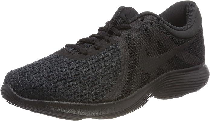 Nike Revolution 4 Sneakers Laufschuhe Damen Schwarz mit schwarzen Streifen