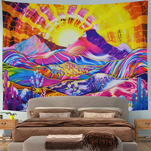 Psychedelic Tapestry Colorful Trippy Wall Tapestry Wall Hanging for Bedroom Dorm
