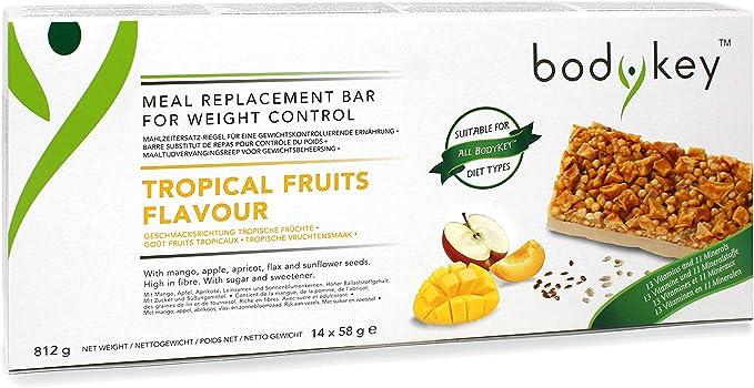 bodykey by nutril itetm mahlzeiter Juego de pestillos – de frutas tropicales – 14, por 58 g (812g) – Amway – (Número de Referencia: 121057)
