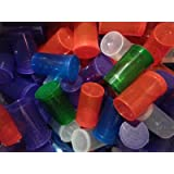 50 Pack Multicolor 13 Dram Pop Top Bottle- Vial Medical Herb Pill Box Containers