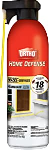Ortho 071549020545 Home Defense Killer for Cracks & Crevices: Spray Foam Kills Ants, Cockroaches, Fleas, Centipedes, Crickets, Boxelder Bugs & Other Listed Common Insects, Long-Lasting, 16 oz, Brown/A