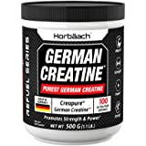 Creapure German Creatine Monohydrate Powder 500g | Promotes Strength and Power | Made in Germany | Non-GMO, Vegetarian | by H