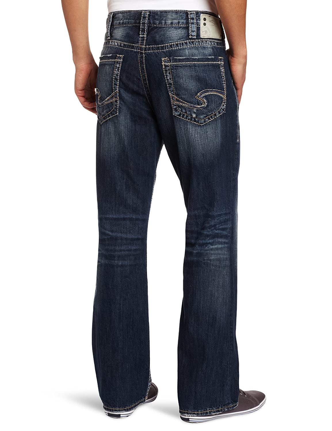 b3c30e32 Silver Jeans Co. Men's Grayson Relaxed Fit Bootcut Jeans at Amazon Men's  Clothing store: