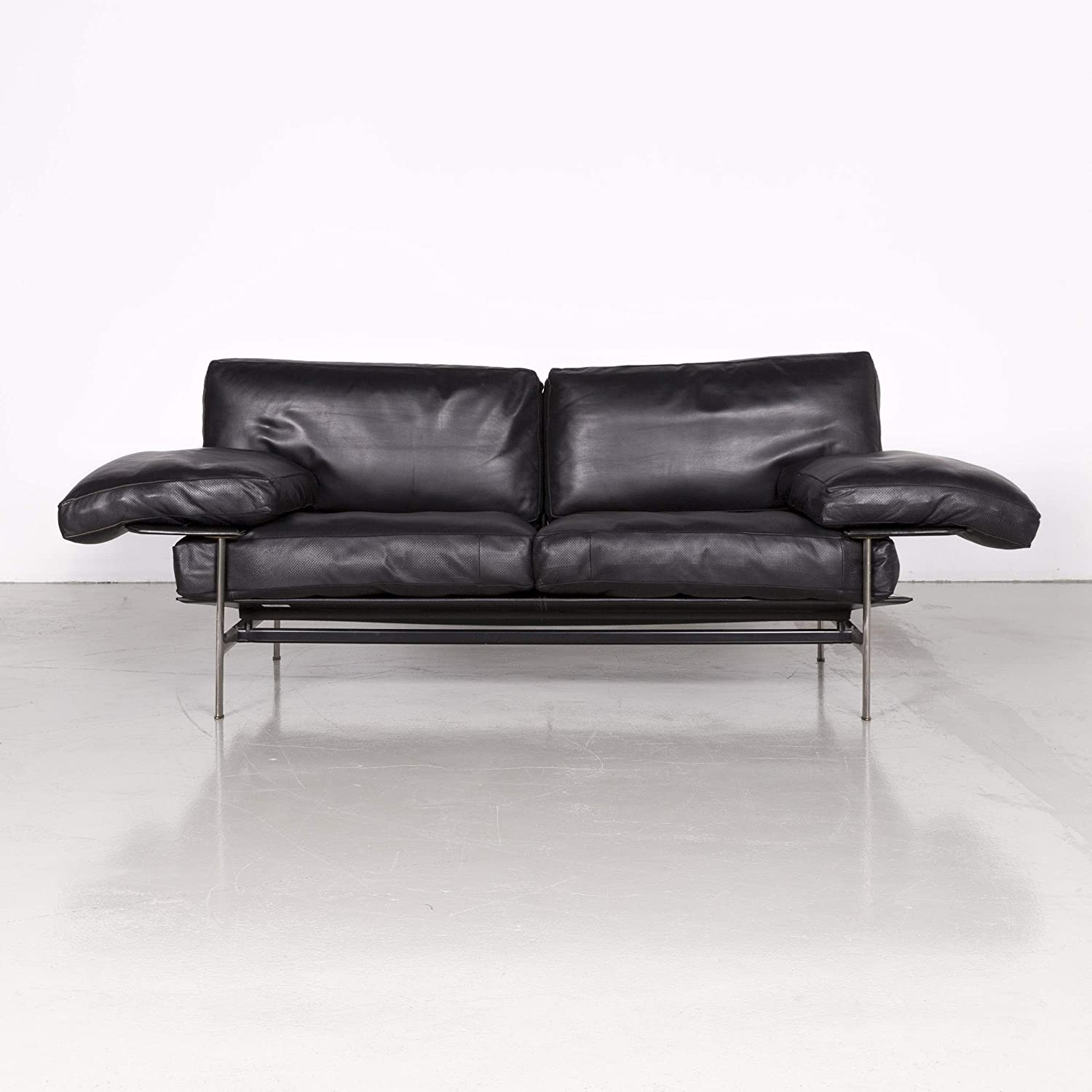 B & B Italia Diesis Leather Designer Sofa Black by Antonio ...