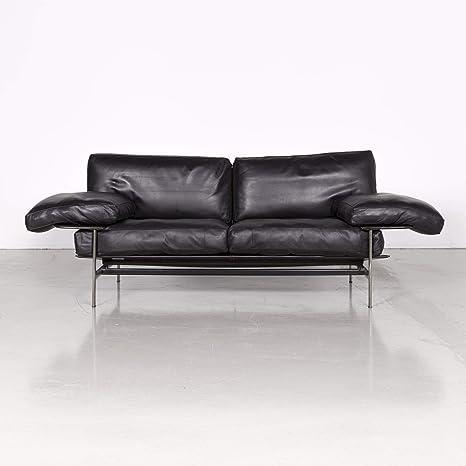 B & B Italia Diesis Leather Designer Sofa Black by Antonio ...