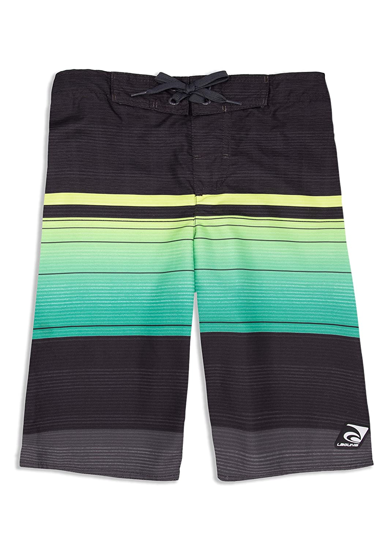 LAGUNA Boys Ombre Tropical Stripe Boardshorts Swim Trunks UPF 50+