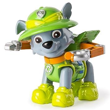 Paw Patrol Jungle Rescue Rocky Figurine Articulée De La Pat Patrouille Dans La Jungle