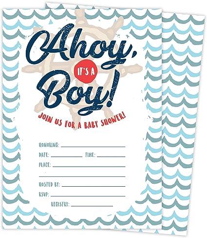 25 BABY Shower INVITATIONS Cards /& ENVELOPES /& SEALS