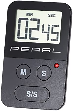 Pearl cuentaminutos: temporizador de cocina digital con cronómetro, alarma óptica y acústica (Digital