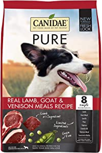 Canidae PURE Grain Free, Limited Ingredient Dry Dog Food, Lamb, Goat and Venison Meals, 24lbs