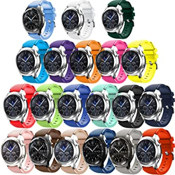 Tabcover Smart Watch Correa,20 Colors 22mm Soft Silicone ...