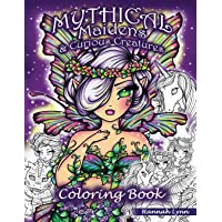 Mythical Maidens & Curious Creatures Coloring Book