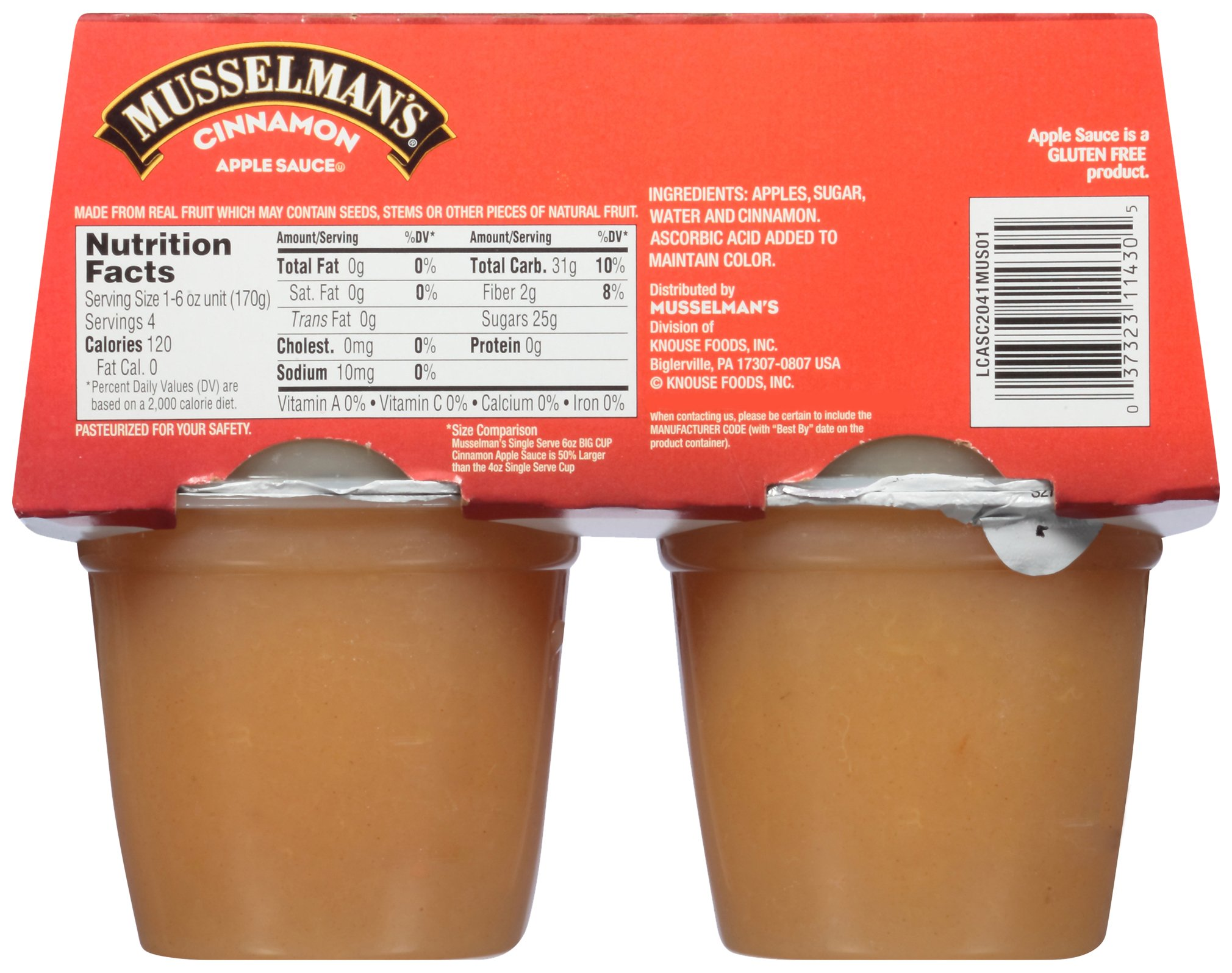 Musselman's Big Cup Cinnamon Apple Sauce, 6 Ounce (Pack of 12) by Musselmans (Image #2)