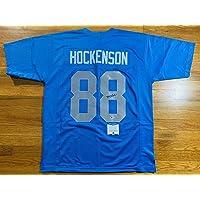 $215 » Lions Tj Hockenson Signed Custom Jersey Authentic Beckett Bas Coa #s08706 - Beckett Authentication - Autographed NFL Jerseys