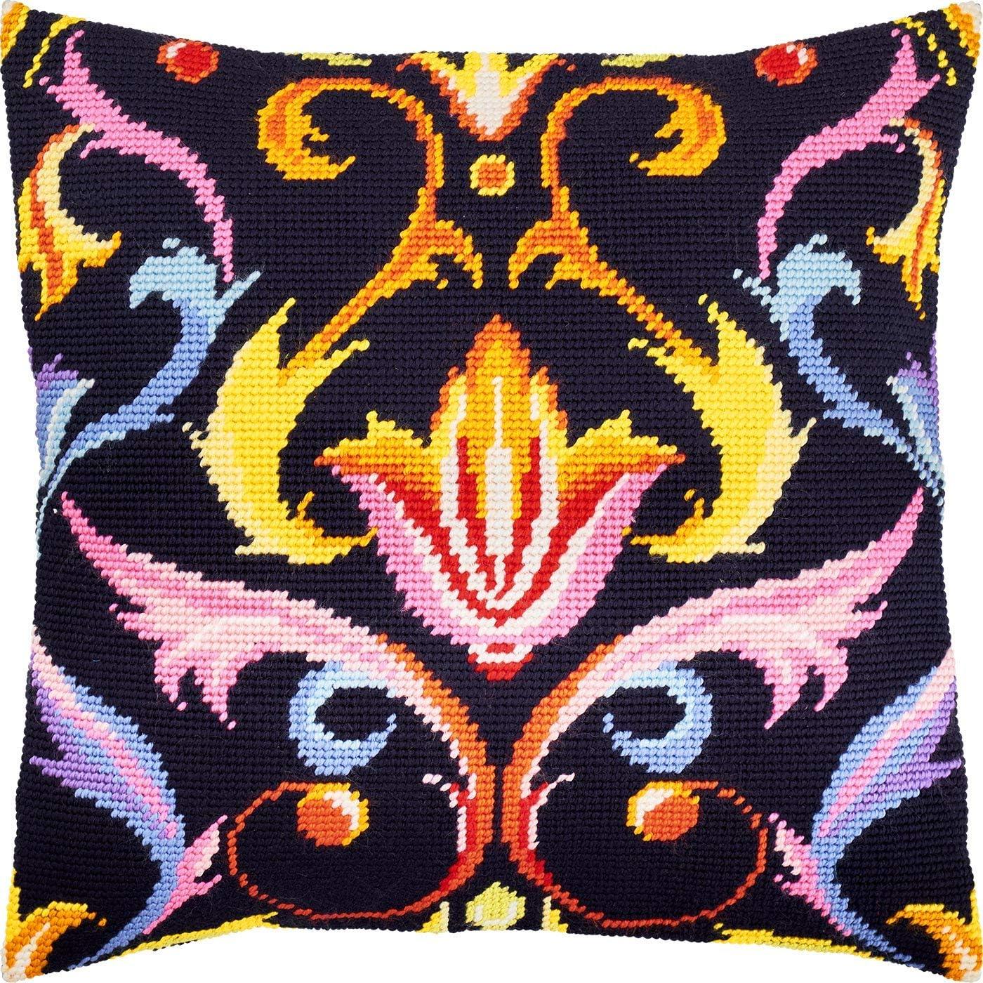 Sunset Needlepoint Kit Throw Pillow 1616 Inches European Quality ...