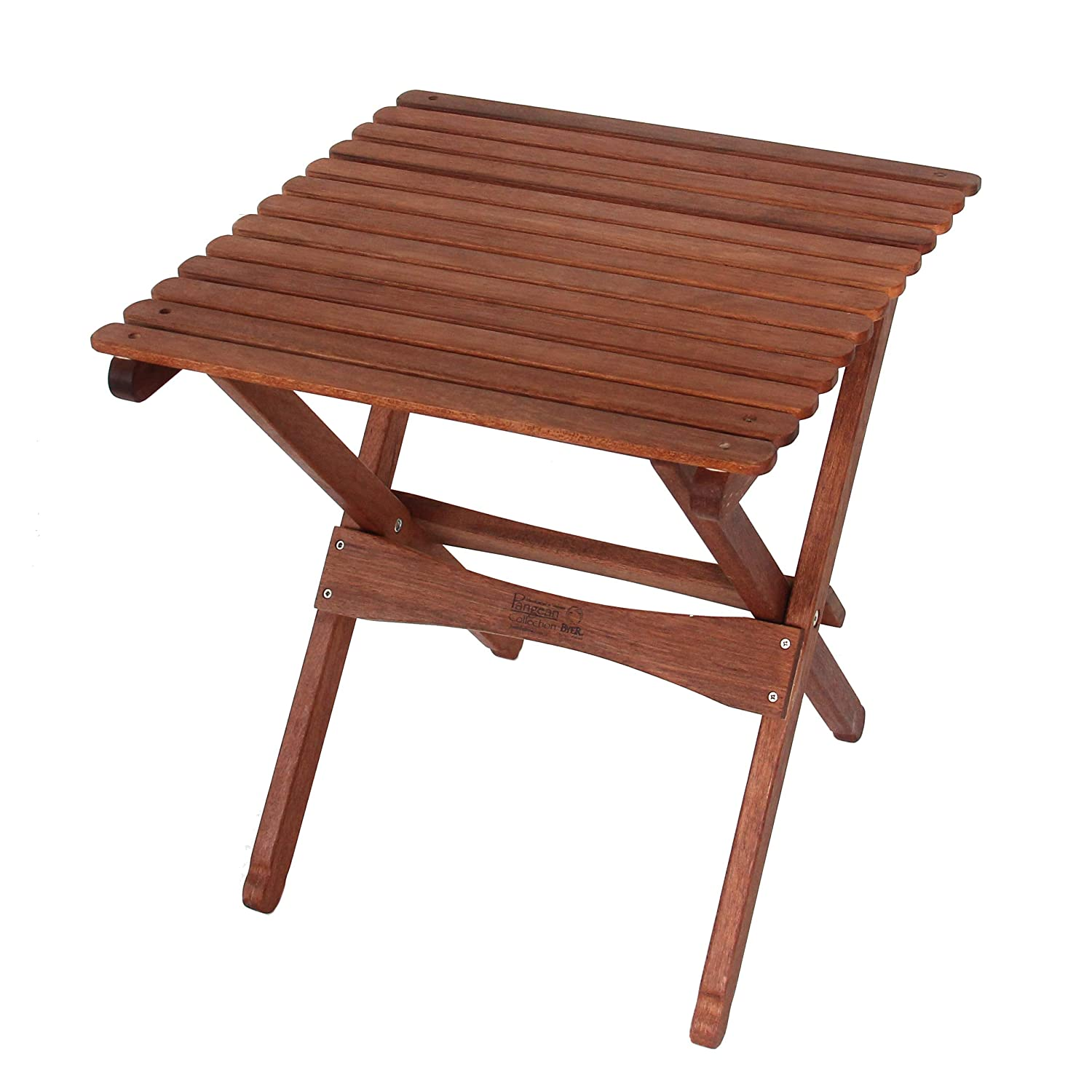 BYER OF MAINE, Pangean, Folding Wood Table, Large, Easy to Fold and Carry, Hardwood, Folding Patio Table, Perfect for Camping, Wooden Camp Table, Matches Furniture in The Pangean Line, Single