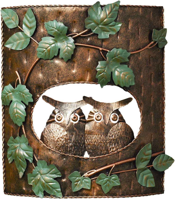 Ancient Graffiti Owls in Tree House Yard Art