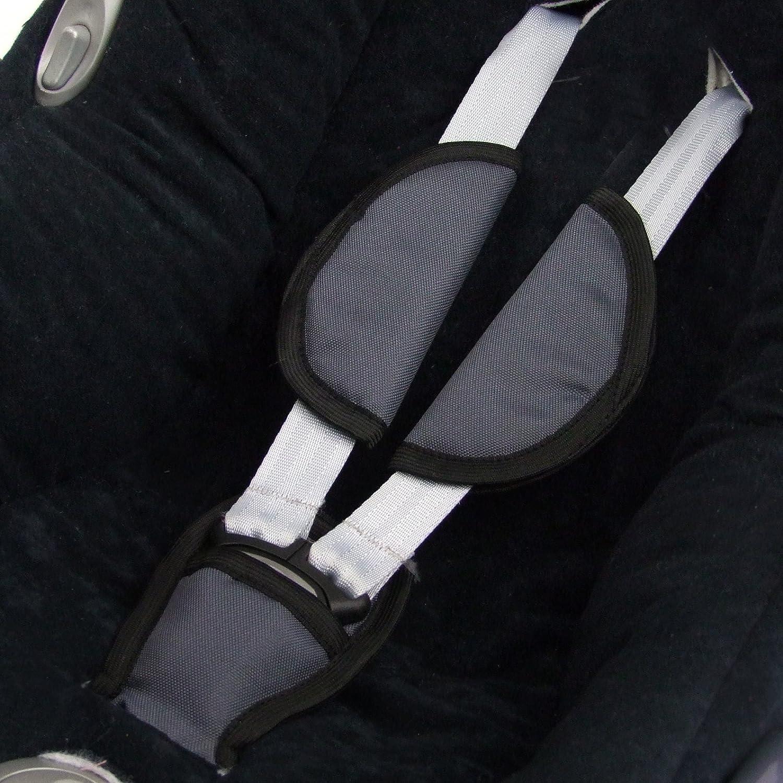 Bambiniwelt gruppo 0 adatte per seggiolino ovetto Maxi-Cosi set di 3  imbottiture per cintura e cavallo colore: grigio scuro