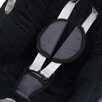 Bambiniwelt 3tlg Set Gurtpolster Schrittpolster Für Maxi Cosi Babyschalen Gruppe 0 Dunkelgrau Baby