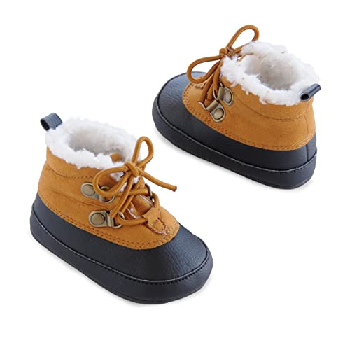 Boys' Baby Soft Sole Duck Brown/Tan