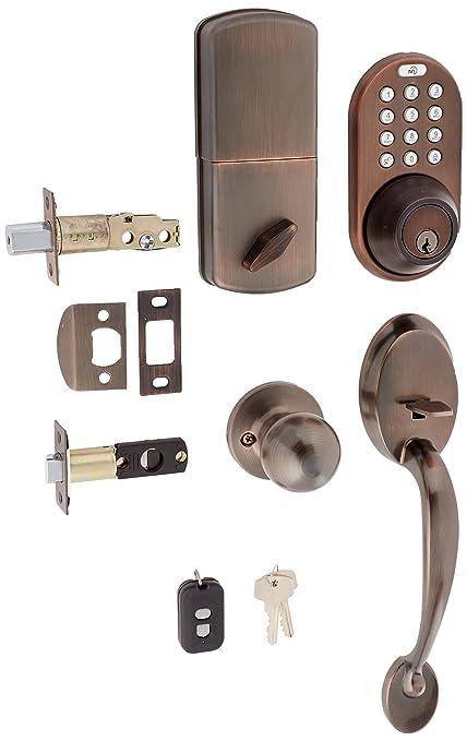 Milocks Bxf 02ob Digital Deadbolt Door Lock And Passage Handleset