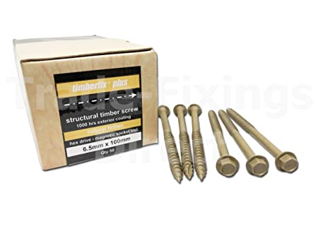 PACK OF 4 200mm GENUINE TIMBERLOK SLEEPER SCREW WITH FREE DRIVER BIT RAILWAY