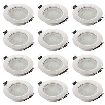 SEBSON® Einbaustrahler Badezimmer IP44, Badeinbaustrahler, Einbauleuchte  Aluminium Weiß, inkl. GU10 Fassung (LED, Halogen), 12er Pack
