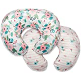 Boppy Boutique Pillow Cover, Pink White Floral Duet, Minky Fabric in a fashionable two-sided design, Fits ALL Boppy…
