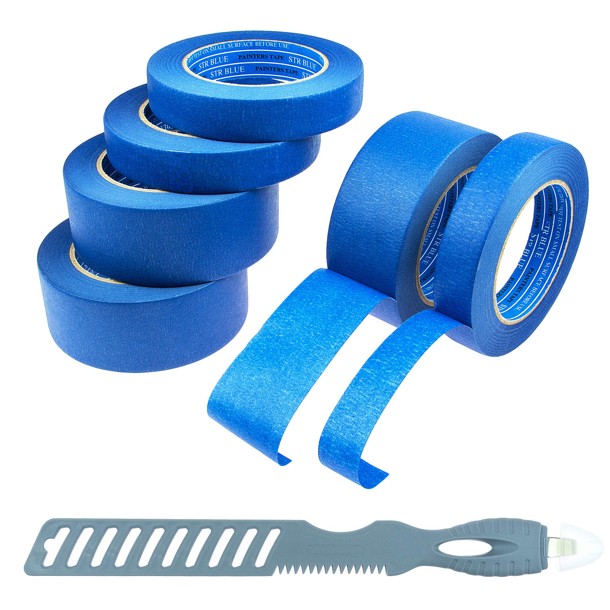 45e32979c92 Blue Painters Tape 6 Roll Kit (3 Rolls 1   2 Inch  Multitools)